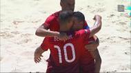 Futebol de praia: Portugal-Brasil, os golos do primeiro tempo
