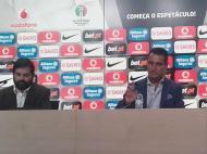 João Ferreira e Hugo Freitas na apresentação do vídeo-árbitro