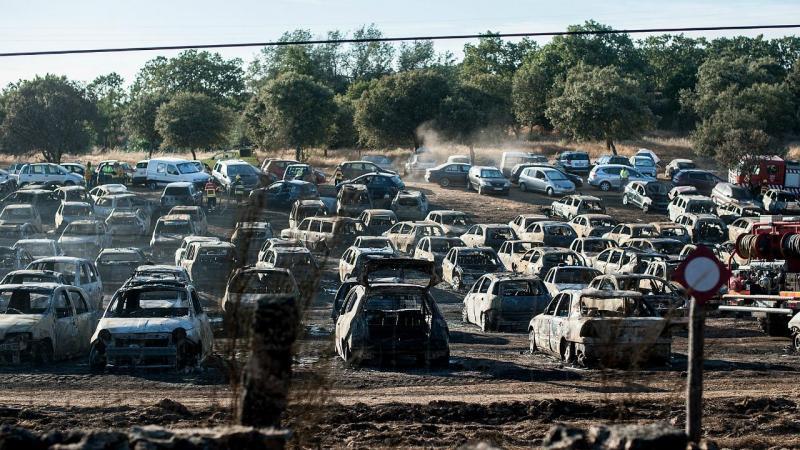 Centenas de carros queimados no Festival Andanças