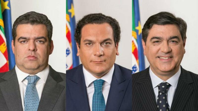 Fernando Rocha Andrade, João Vasconcelos e Jorge Costa Oliveira