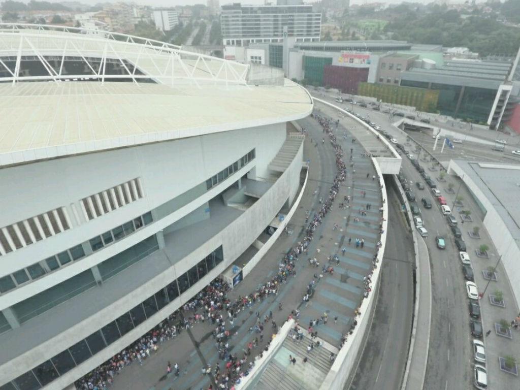 Treino aberto no Estádio do Dragão