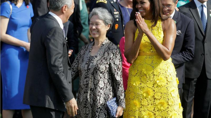 Ho Ching e Michelle Obama