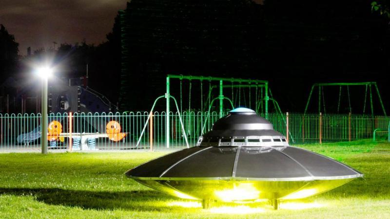 Disco voador em Gorey, na Irlanda