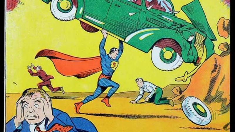 Primeiro exemplar da banda desenhada Super-Homem