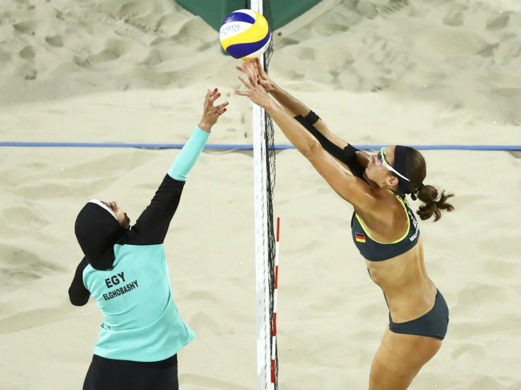 Egipto-Alemanha voleibol de praia (Reuters)