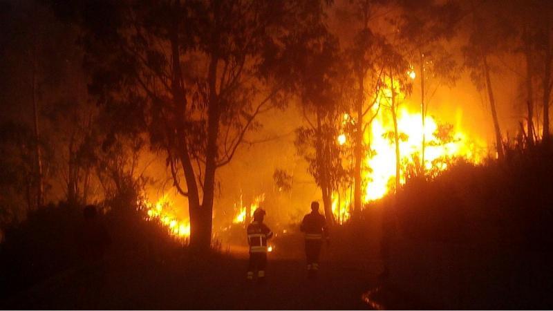 Eu vi: Incêndio em Barcelos (Foto enviada por Miguel Rocha)