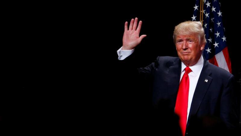 Donald Trump em campanha nas presidenciais 2016