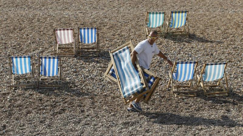 Todos querem o melhor lugar na praia
