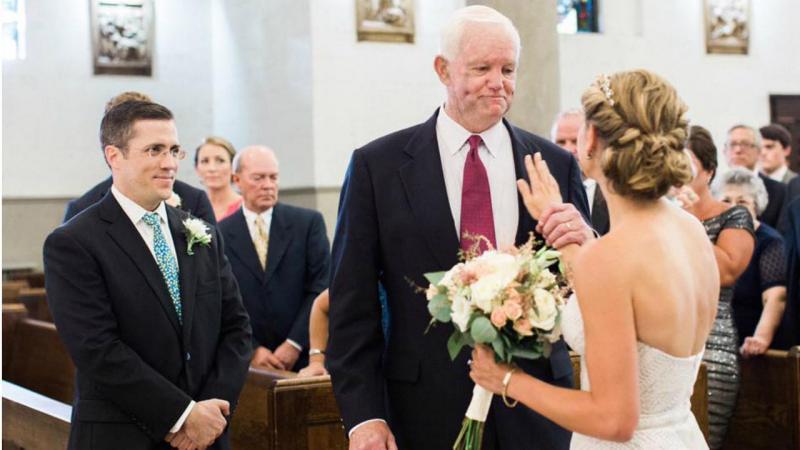 Arthur e Jeni no altar