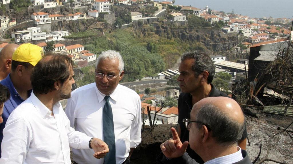 António Costa visita Madeira devastada pelos incêndios