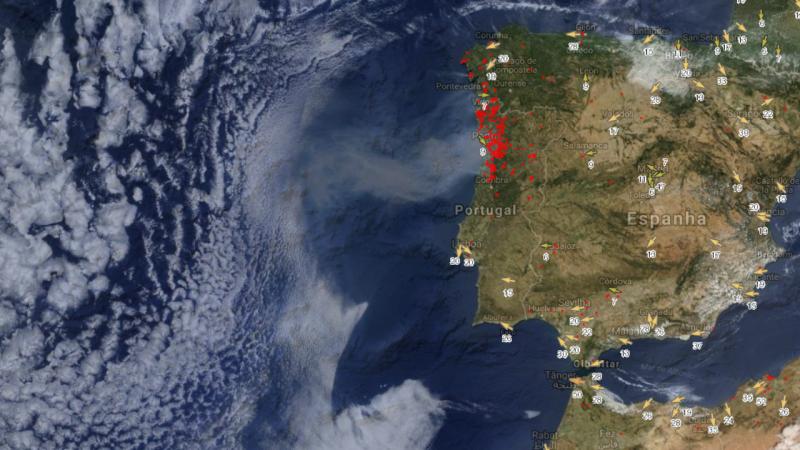 mapa de fogos Mapa mostra país a arder como nunca o viu | TVI24 mapa de fogos