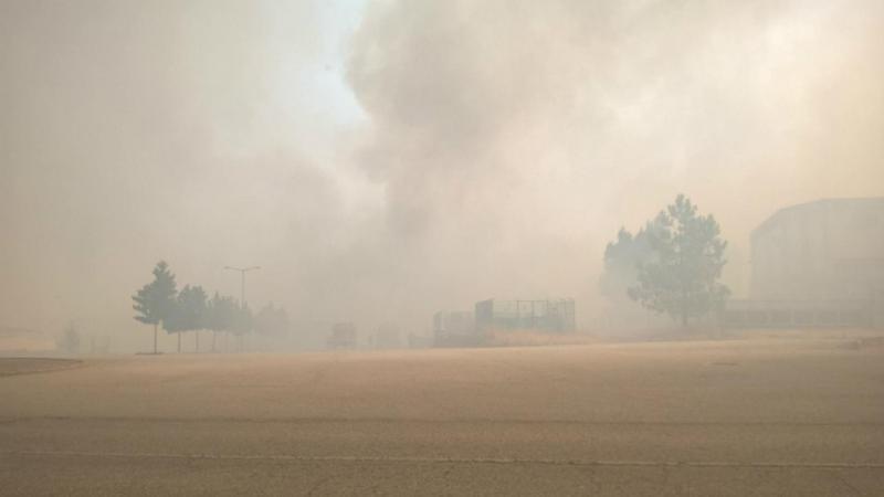 Eu vi: incêndio em Trancoso (foto enviada por Márcia Sá)