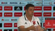 Rui Vitória fala do relvado do estádio de Tondela