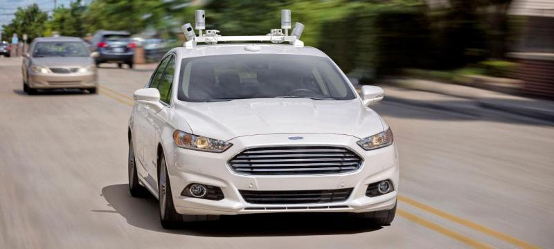 Ford Fusion com tecnologia de condução autónoma