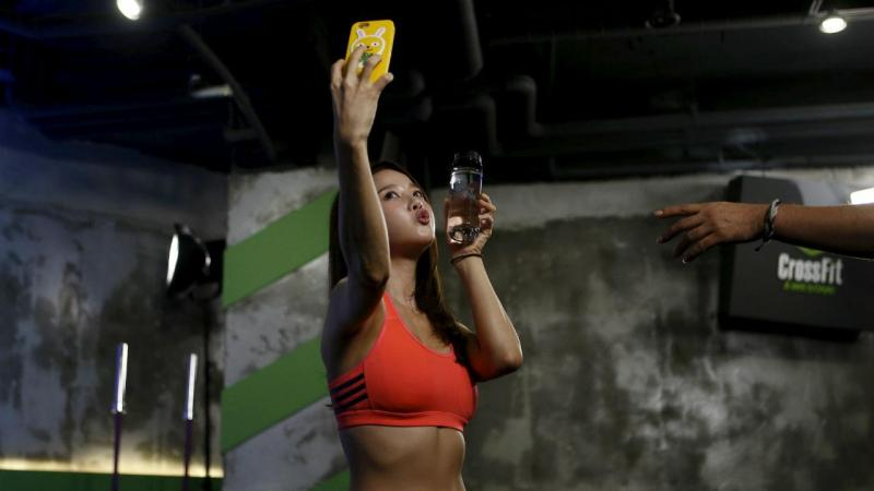 Selfie no ginásio