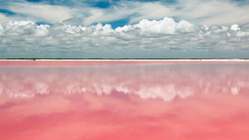 Lagoa cor-de-rosa