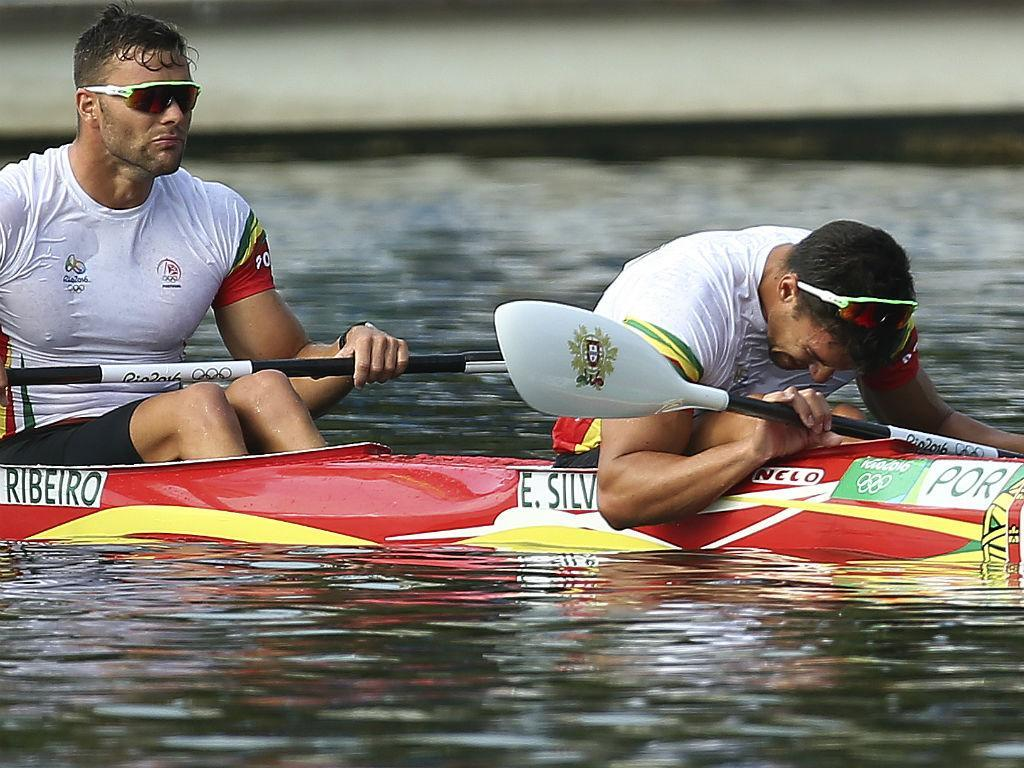 Emanuel Silva e João Ribeiro na final dos K2 1000m (António Cotrim/Lusa)