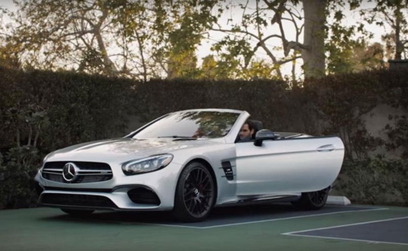 Roger Federer e o Mercedes SL