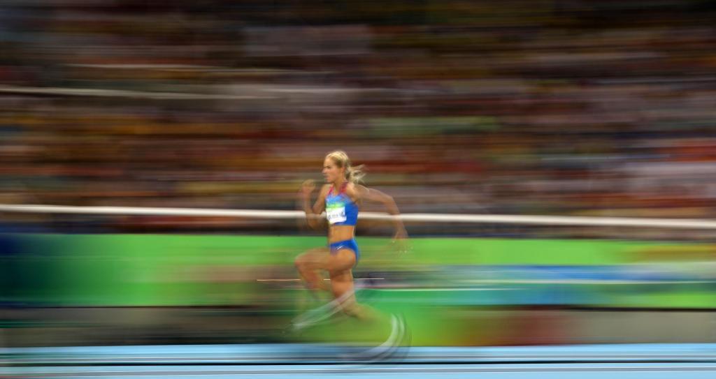 Klishina, a única russa no atletismo