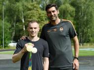 Paulo Fonseca e Oleg Verniaiev (foto Shakhtar)