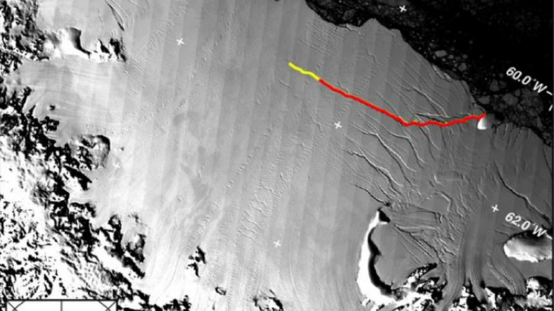 Fenda na plataforma de gelo Larsen C