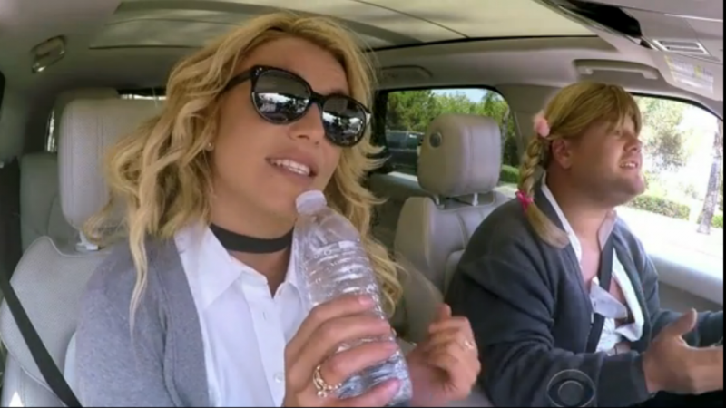 Britney Spears participa no Carpool Karaoke