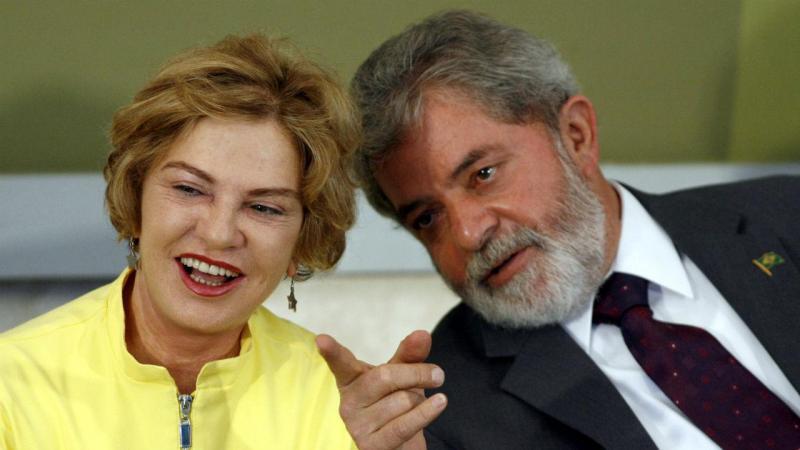Lula da Silva e a mulher Marisa Letícia