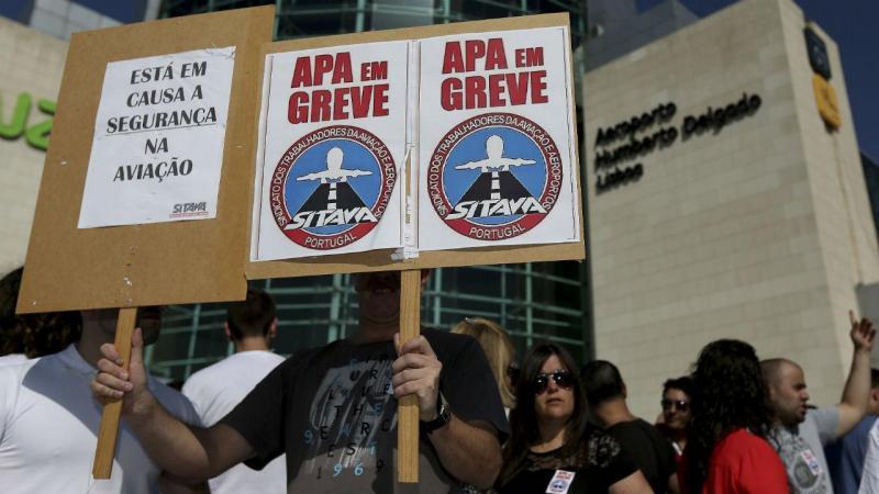Greve dos trabalhadores da Prosegur e da Securitas no aeroporto de Lisboa