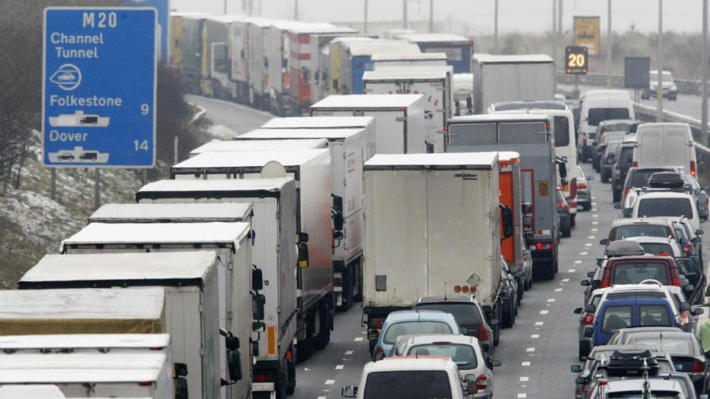 Trânsito auto-estrada M20 (Inglaterra)