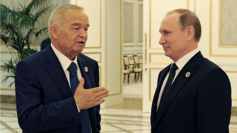 Islam Karimov com Vladimir Putin