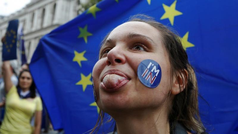 Manifestante contra Brexit