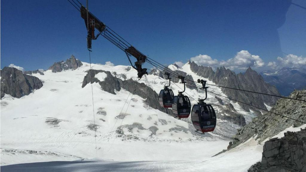 Teleférico panorâmico, Monte Branco, em Itália