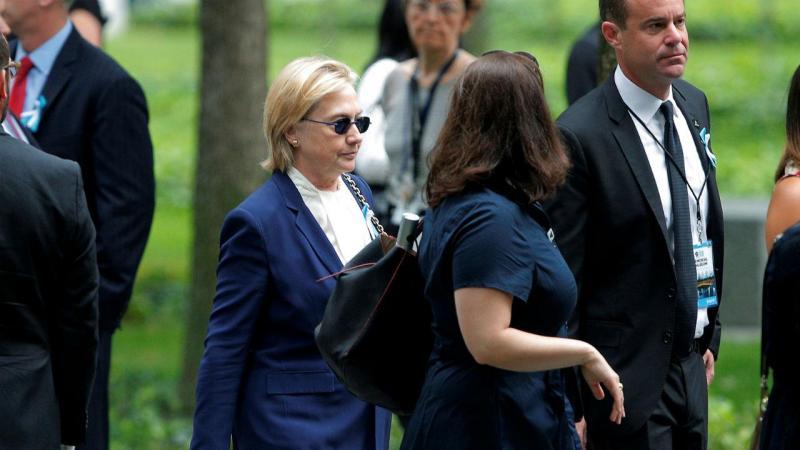 Hillary Clinton sente-se mal durante o memorial do 11 de setembro