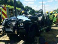 Carro de Pape Souaré depois do acidente