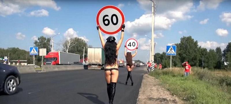 Mulheres alertam para os limites de velocidade