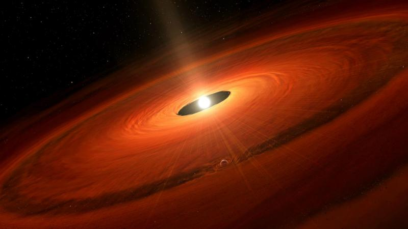 Observada formação de planeta junto à estrela TW Hydrae (Ilustração)