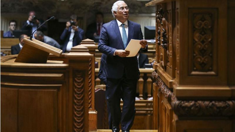 António Costa no debate quinzenal com o primeiro-ministro