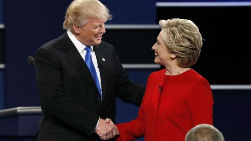 Debate entre Hillary Clinton e Donald Trump, candidatos à presidência dos EUA