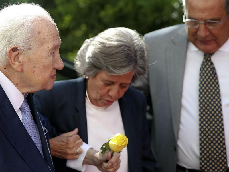 Mário Soares na homenagem a Maria Barroso