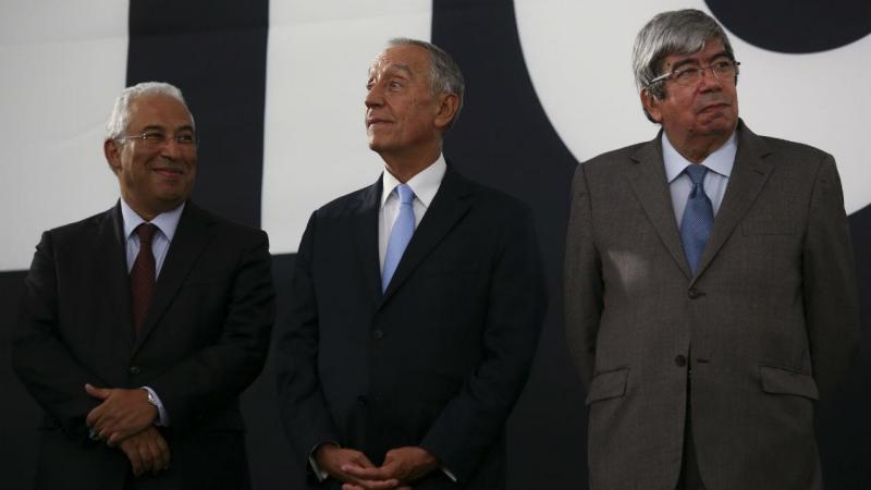 António Costa e Marcelo Rebelo de Sousa na inauguração do MAAT