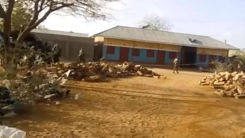 Zona residencial em Mandera, Quénia