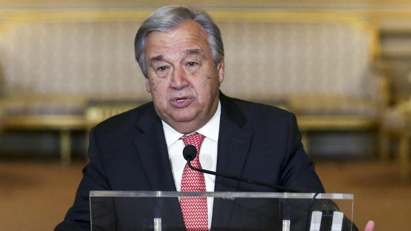 António Guterres no Palácio das Necessidades