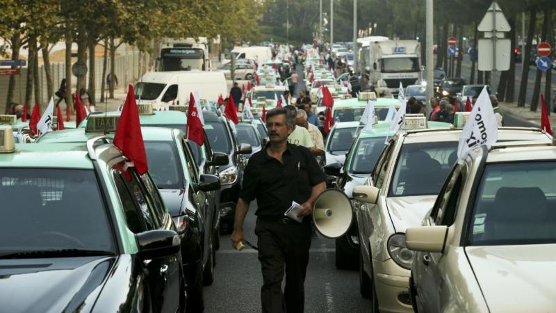 Manifestação de taxistas em Lisboa