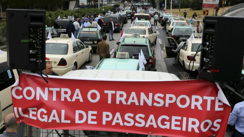 Manifestação junto ao aeroporto