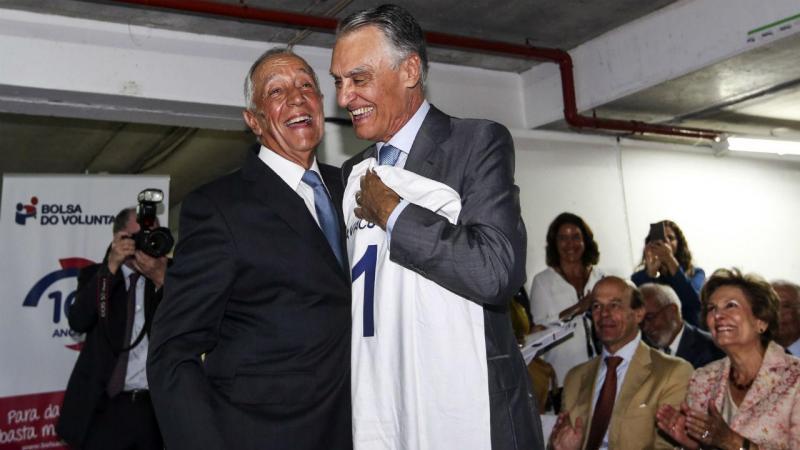 Marcelo Rebelo de Sousa homenageia Cavaco Silva
