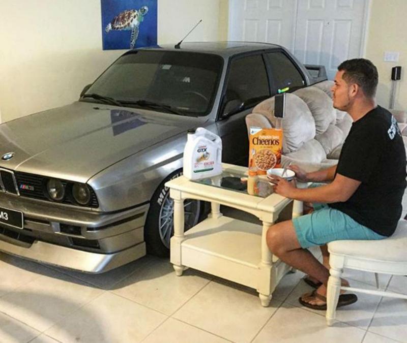 BMW M3 na sala