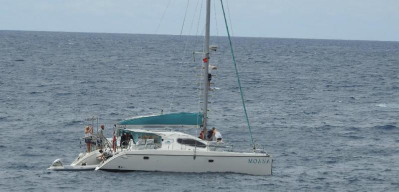 Barco dinamarquês nas Ilhas Selvagens (foto Polícia Marítima)