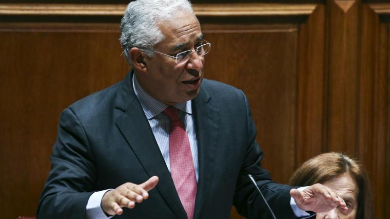 António Costa no debate quinzenal