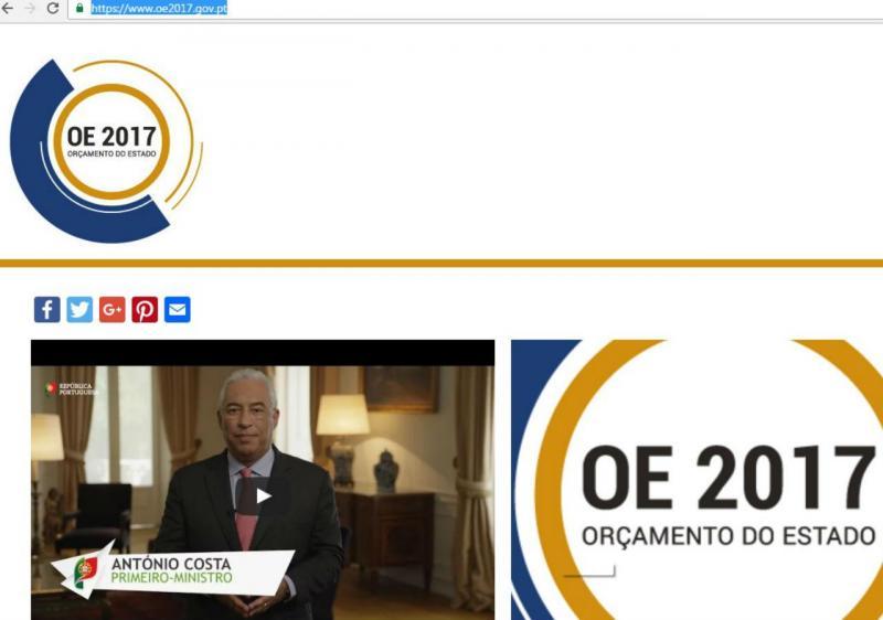 Governo cria site para explicar OE2017