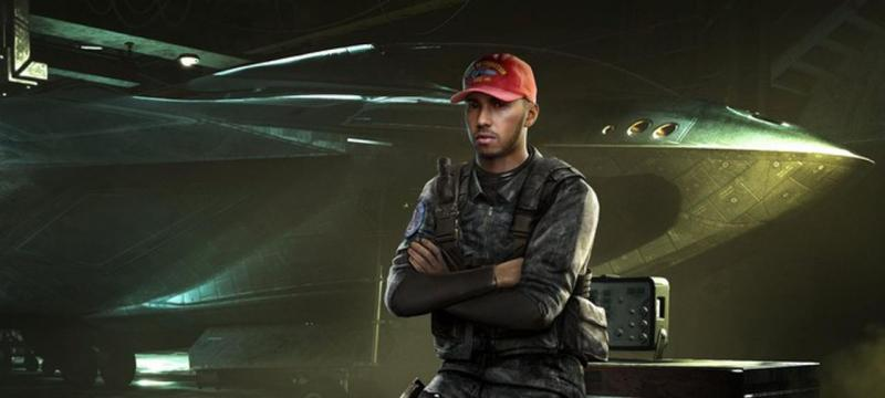Lewis Hamilton no Call of Duty